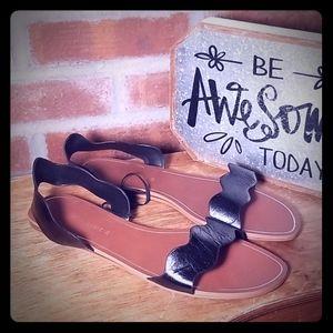 Zara Basic Slip On Sandals NWT Black Size US 8